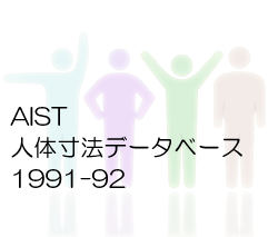AIST人体寸法データベース 1991-92