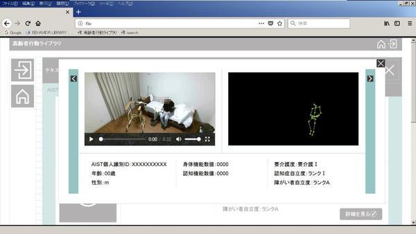 図4 動画スケルトン表示画面例